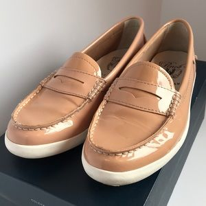 Cole Haan Pinch Loafer Tan Patent Leather Nautical
